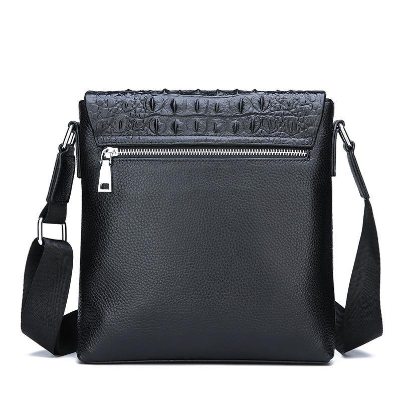 Men's casual leather shoulder bag