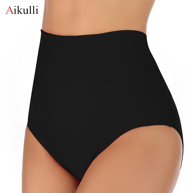 Aikulli Sexy nadar bañadores traje de baño para mujeres, bragas cintura alta Shorts pantalones abrigos Pantalones Slim de gran tamaño nadar Bañadores