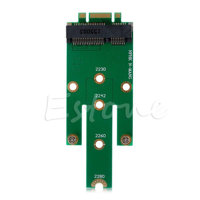 MSATA Mini PCI-E 3,0 SSD a NGFF M.2 B llave SATA tarjeta adaptadora Envío Directo