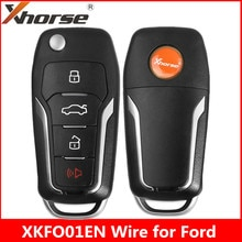 Xhorse XKFO01EN fil clé à distance pour Ford Condor retourner 4 boutons clé inamovible roi Version anglaise