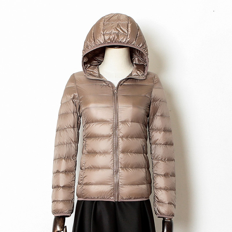 2021 new winter men down jacket warm down coats white duck down real raccoon fur hooded down jackets outwear winter men coats New Women Thin Down Jacket White Duck Down Hooded Ultralight Jackets Autumn And Winter Warm Coats Female Portable Outwear