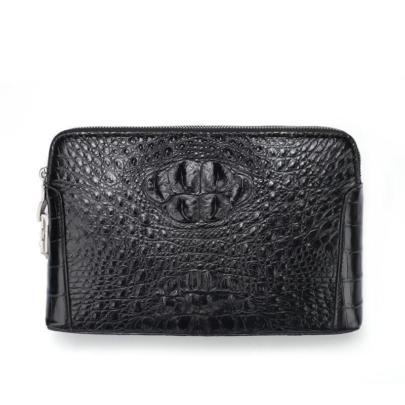 2021 new crocodile leather men's hand bag long zipper large capacity clip password lock wallet men cartera hombre Free shipping