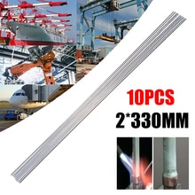 10 pièces 2*330mm facile fil de soudure en aluminium basse température haute résistance électrode de soudure tige de brasage pas besoin de poudre de soudure