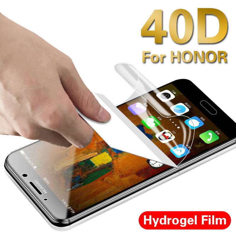 40D полное покрытие Гидрогелевая пленка для huawei Honor 8 8lite 9 10 10 Lite Защита экрана для Honor 20 V20 20 Pro 9 10 защитная пленка