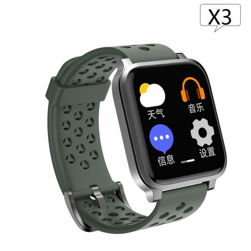 X3 pantalla a Color pulsera inteligente dinámica de ritmo cardíaco reloj inteligente de negocios de moda para adultos Fitness Tracker reloj de presión arterial