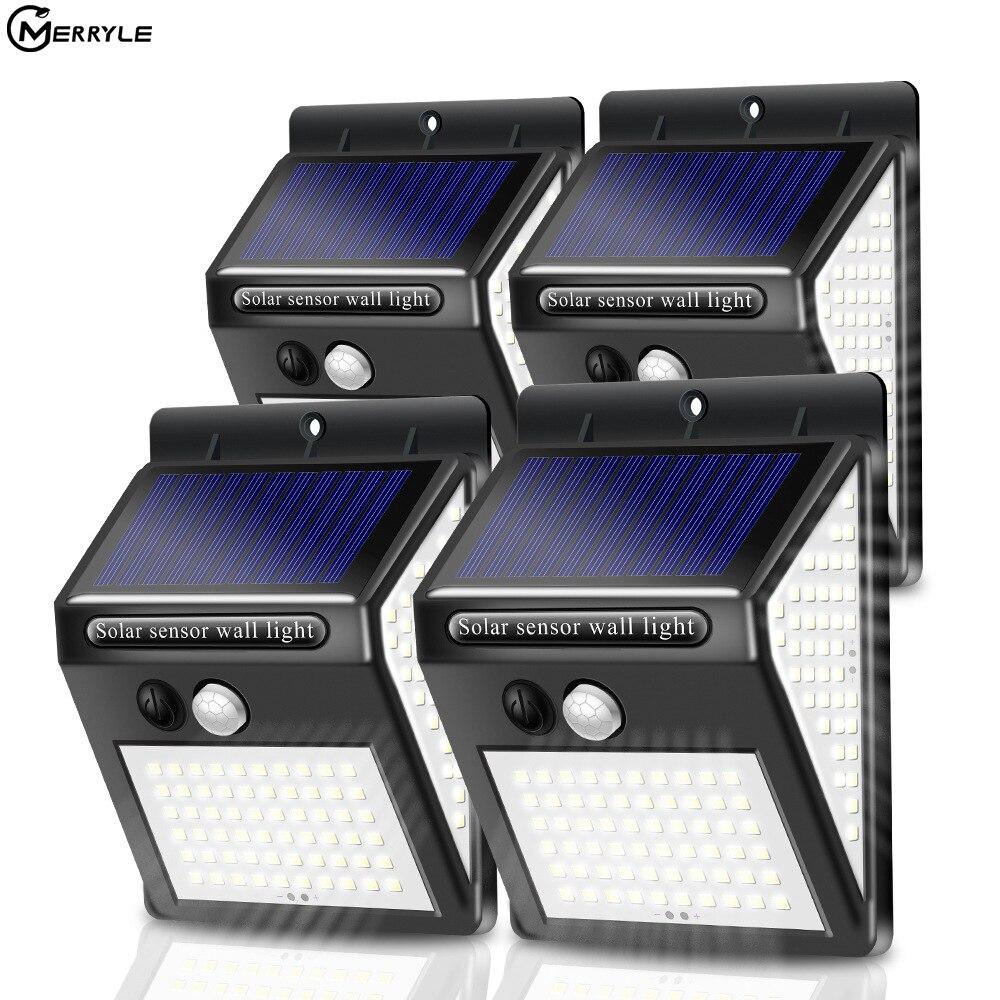Led Solar Light Outdoor Motion Sensor Solar Wall Light IP65 Porch Emergency 100 140 160 Led Light For Street Garden Lighting