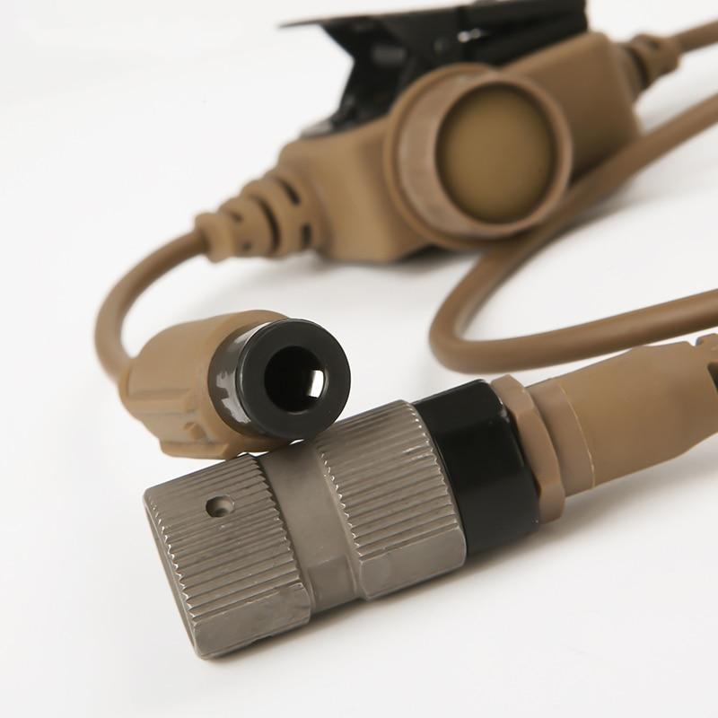 For Tactical Headset RAC Dedicated PTT 6 Pins for FCS TCA TRI PRC-148/152 Military FCS ComTac 3 ACH Communication Headphones enlarge