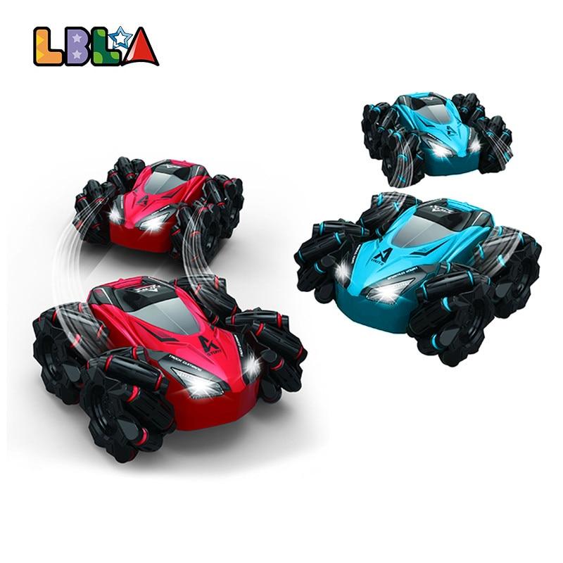 LBLA C10 RC Stunt Car with Light Music 2.4Ghz 4CH 20km/h Drifting 360 Degree Rotating Remote Control