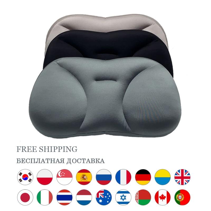 Almohada de nube redonda almohada para dormir redonda almohada de apoyo para el cuello almohada ergonómica en forma de mariposa almohada para dormir todopoderosa cojines cojines decorativos para sofá hogar cojines