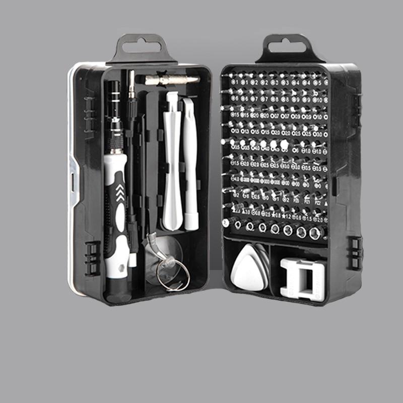 Часы, мобильные телефоны, набор инструментов для разборки и ремонта отверток из хромованадиевой стали 115 в 1
