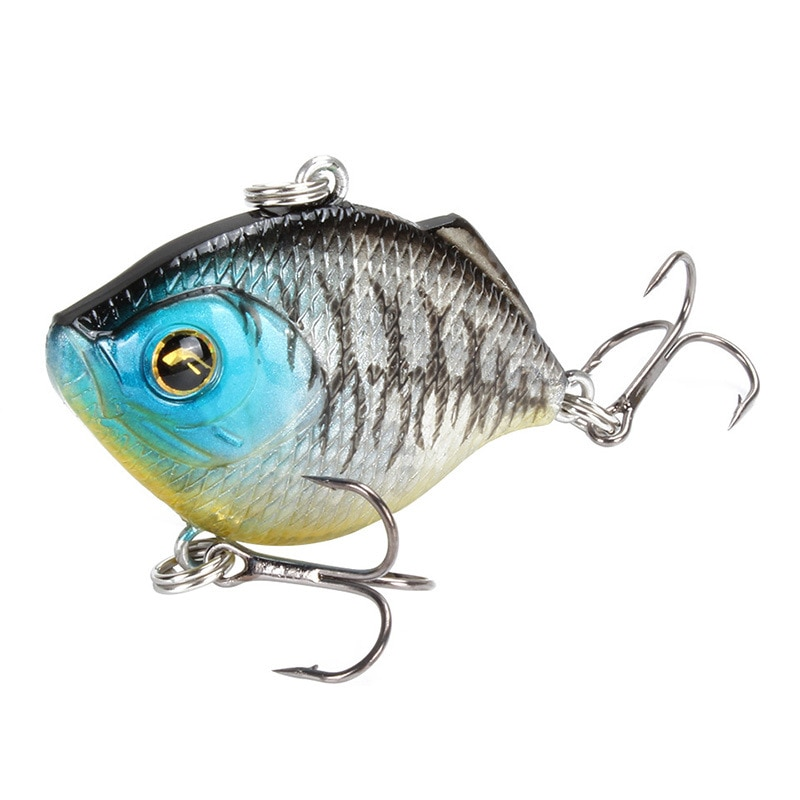 ABS Plastic Hard Bait 8pcs/set 4.5cm/8.6g Artificial Swing Tremble Sinking With Treble Hook 3D Eyes Wobblers Bionic Bait Fishing enlarge