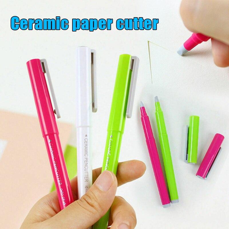 Нож для креативной бумаги, керамический резак для бумаги, резак для ручек, многофункциональные режущие ножи для рукоделия, ноутбука
