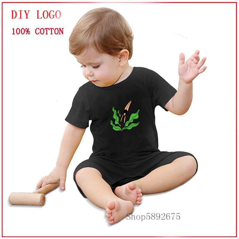 Newborn Baby summer rompers Cotton Infant Body Short Sleeve baby Jumpsuit Diving into Plants baby ro