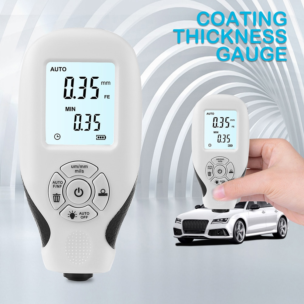 Оптовая продажа, автомобильный толщиномер для краски, 0-2000 мкм