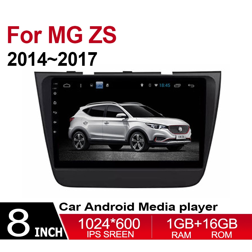 Reproductor de dvd de coche para garajes morrianos MG ZS 2014 2015 2016 2017 Multimedia GPS navegación mapa Autoradio WiFI Bluetooth