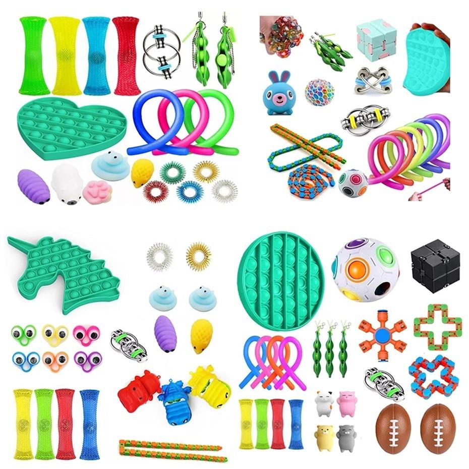 Bubble Pop Fitget Toys Push Bubble Fidget Sensory Toy Autism Special Needs Stress Reliever Popit Fidget Toys Simple Dimple enlarge