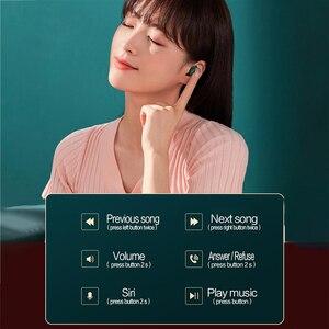 Image 3 - Оригинальный телефон Lenovo HT18 наушники вкладыши TWS беспроводной Bluetooth 5,0 наушники 1000 мАч батареи светодиодный дисплей вкладыши регулятор громкости Hi Fi стерео гарнитура