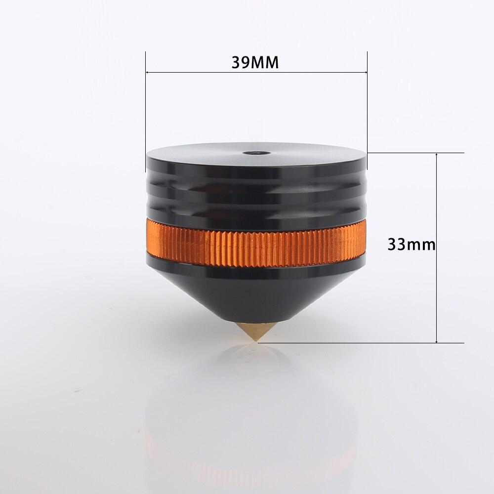 4x audiocrast FT004 39X33mm altavoz de aluminio con punta de choque soporte ajustable Pie de aislamiento cojín de Base