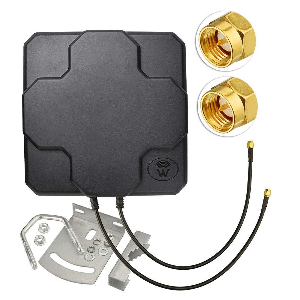 4G/LTE MIMO لوحة هوائي ، 18dBi مكاسب عالية عبر الاستقطاب 698-2690 MHz-ثابت جبل-SMA ذكر موصل واي فاي والخلية الجيل الثالث 3G