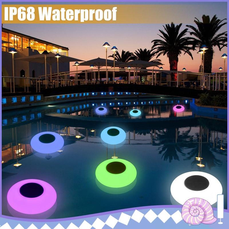 Swimming Pool Solar Floating LED Lights Garden Night Lights Water Drift Lamp Solar-Powered Lawn Lamp Home Garden Creative Light