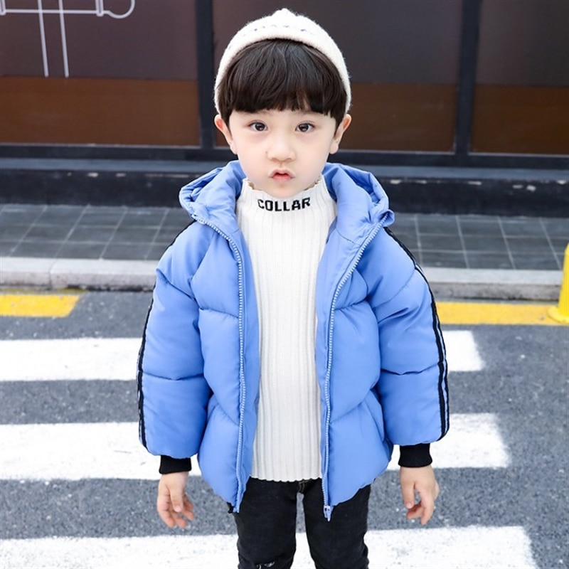 Children's cotton wear new winter clothes hooded cotton addition warm boy's cotton jackets baby clothing baby girl coat enlarge