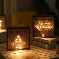 lamp creative night lights for home kids bedroom photo frame night lamp illusion table lamp for home holiday lighting