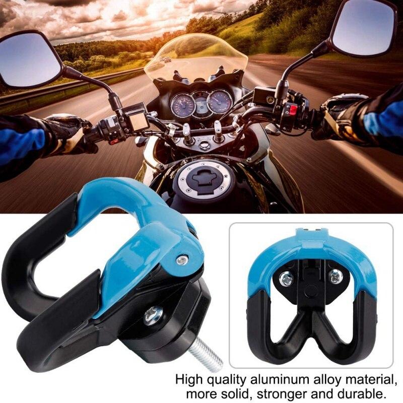 6 colores multifunción motocicleta gancho bolsa de equipaje gancho casco garra doble botella llevar soportes para ATV Moto accesorios D