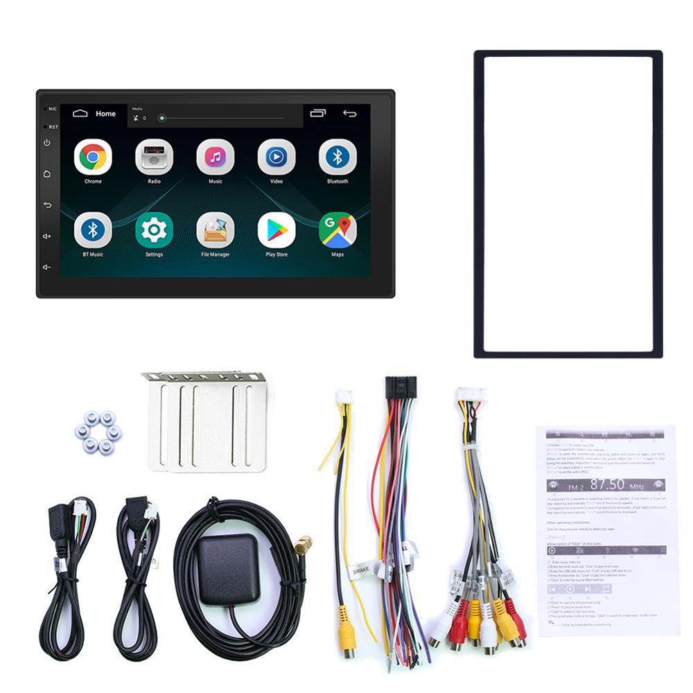 Otojeta carro android carro gps 7 polegada tela do carro multimídia jogador hd filme jogar espelho ligação bluetooth handsfree usb sd aux estéreo