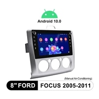android 10 0 car radio head unit gps navigation 8 inch with carplay screen car stereo tape recorder for ford focus 2005 2011