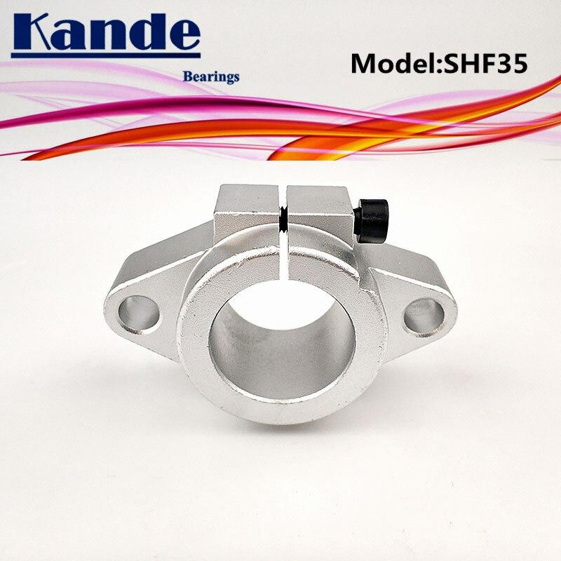 Rodamientos Kande 2 uds SHF35 35mm soporte del eje de cojinete Barra de eje redonda apoyo bricolaje XYZ Mesa CNC 3D impresoras SHF SHF35
