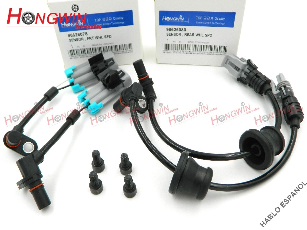 4 шт. один набор ABS Датчик скорости колеса подходит резистор для Шевроле Понтиак Equinox Captiva Saturn Opel 2007-2013 96626078, 96626080