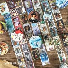 Vintage classique Van Gogh balle Journal Washi bande rétro timbre ciel étoilé ruban adhésif bricolage Scrapbooking autocollant étiquette masquage