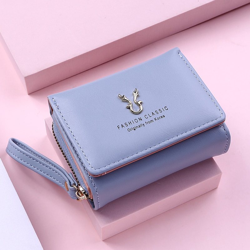 New Fashion Women Wallet Short Women Coin Purse Wallets For Woman Card Holder Small Ladies Wallet Fe