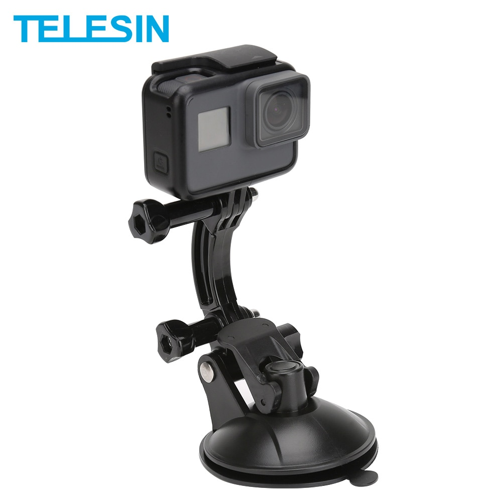 TELESIN 8CM Car Suction Cup Mount Tripod Holder Adapter for GoPro Hero 9 8 7 6 5 4 for Insta360 ONE R For Osmo Action For XiaoYi