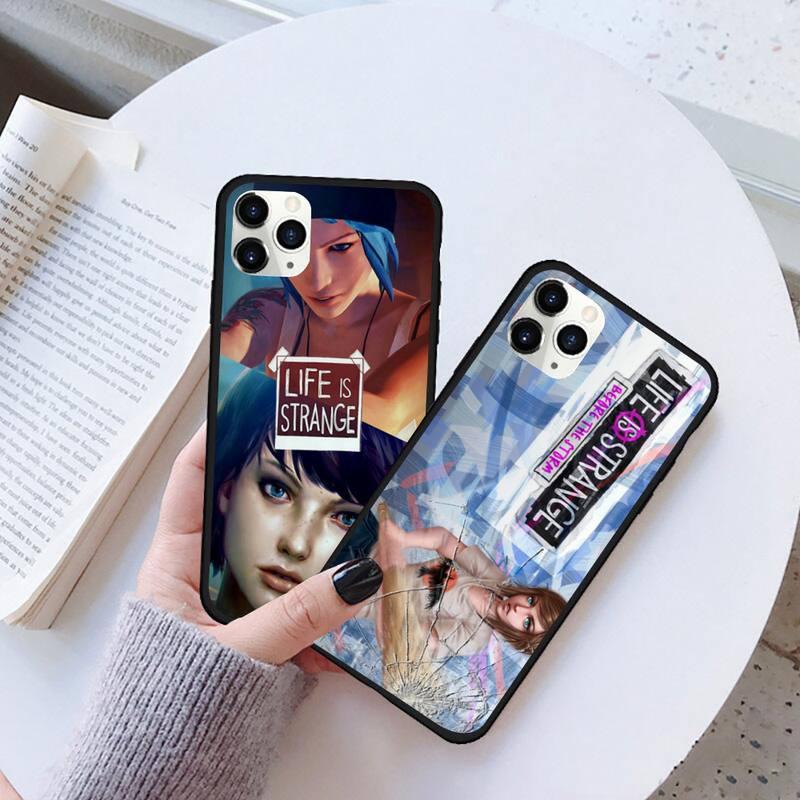 La vida es extraña mariposa negro del teléfono celular caso para iPhone 11 pro XS MAX 8 7 6 6S Plus X 5S SE 2020 XR caso