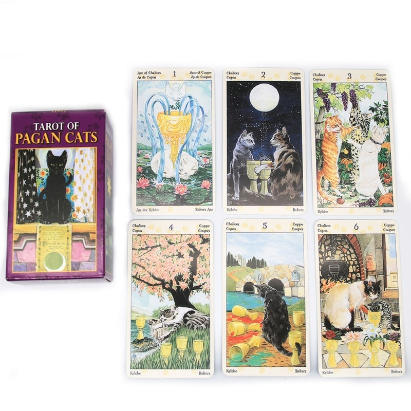 78 Cards Deck Tarot Of Pagan Cats Full English Family Party Board Game Oracle Cards Astrology Divination Fate Card недорого