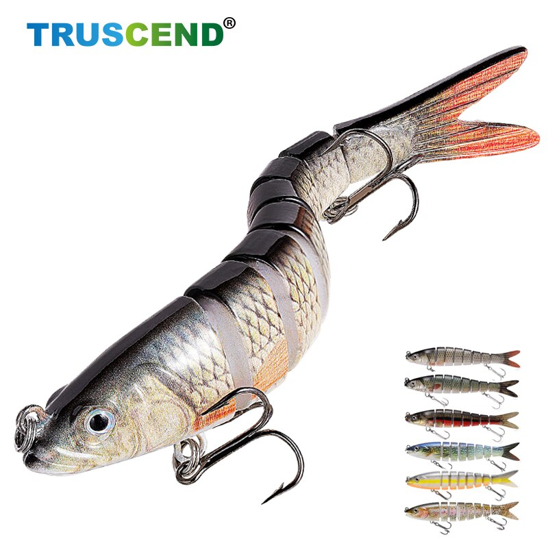 13cm 8 Segment Hard Artificial Fishing Lure Sinking Wobblers Bait Swimbait Winter Fishing Equipment Crankbait Tackle For Fishing