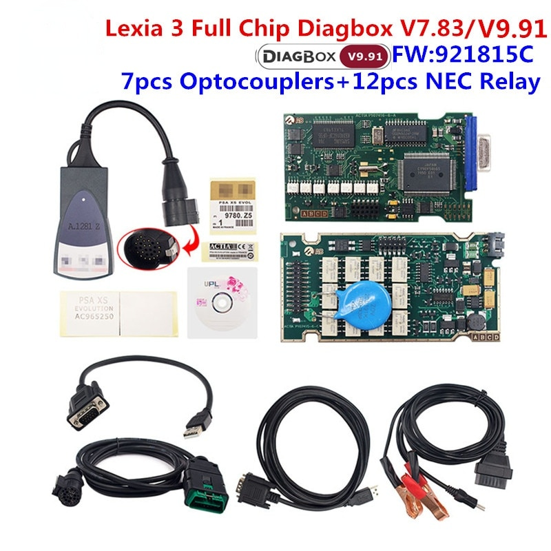 Golden Lexia 3 PP2000 Diagbox V7.83 Full Chip 921815C Diagnostic Tool Lexia 3 for Peugeot for Citroen lexia3 Auto Scanner