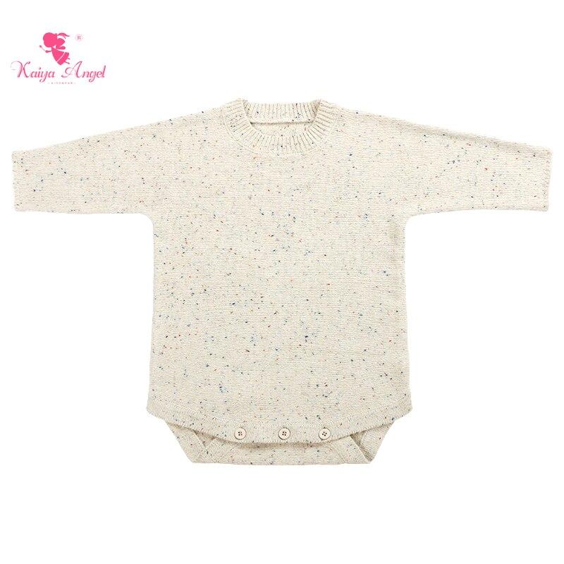 Kaiya Angel ملابس أطفال حديثي الولادة ملابس داخلية ناعمة ودافئة من الصوف المحبوك ملابس للأطفال الرضع رومبير للأطفال