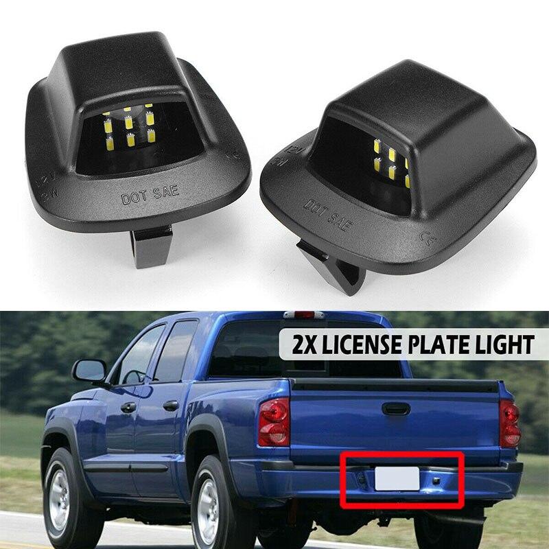 Accesorios de luz de matrícula para Mitsubishi Raider Dodge Dakota