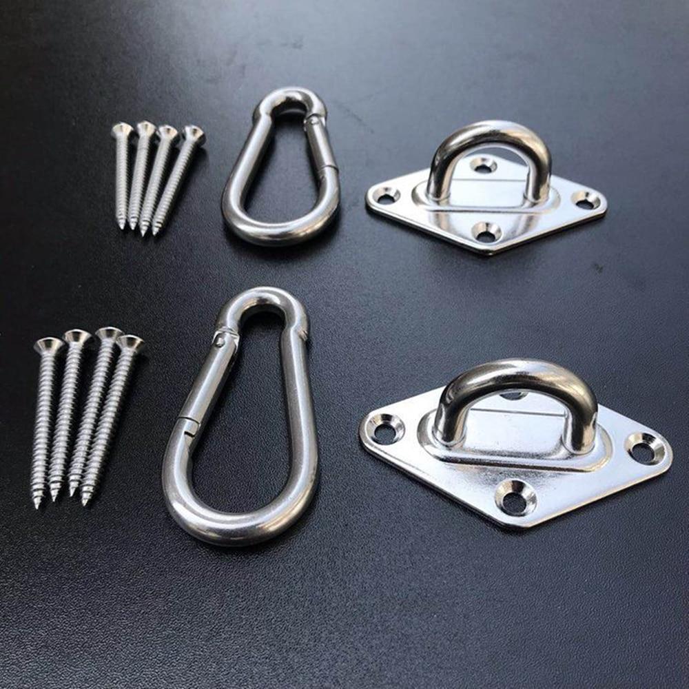 Juego de hamaca colgante hamaca gancho y gancho hamaca soporte herramientas Kits accesorios para sillas 1 juego KYY1120