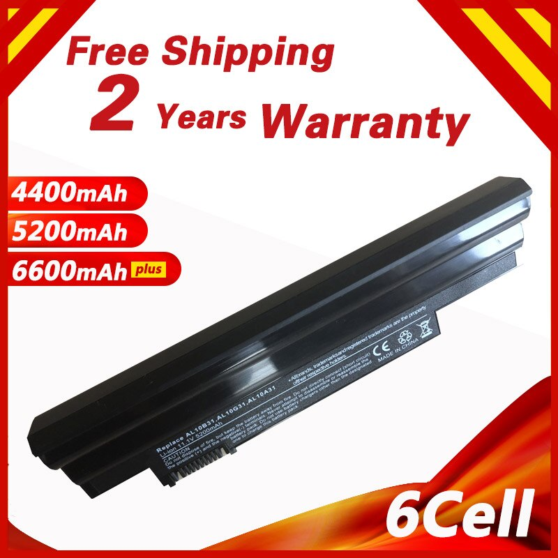 4400MAh 11.1V Laptop Battery for ACER Aspire ONE 522 D255 D255E D257 AL10B31 AL10A31 Netbook