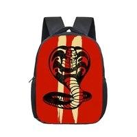 12inch cobra kai kids backpack schoolbags girls boys children school bags kindergarten toddler backpacks