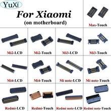 Yuxi 터치 스크린/lcd 디스플레이 충전 마더 보드 용 fpc 플러그 커넥터 xiaomi mi 4 mi 4 mi 3 mi 2 note max for red mi note