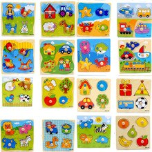 Cartoon Educational Learning Toys Colorful Jigsaw Puzzle Wooden Puzzles Animal For Baby Child Kids G