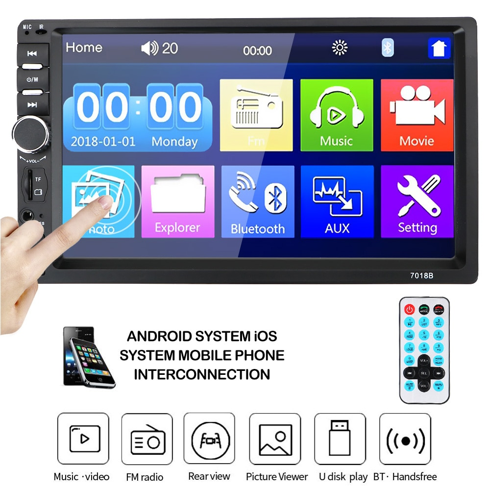 2Din Car Radio Player 7010B /7012B/7018B Car 7