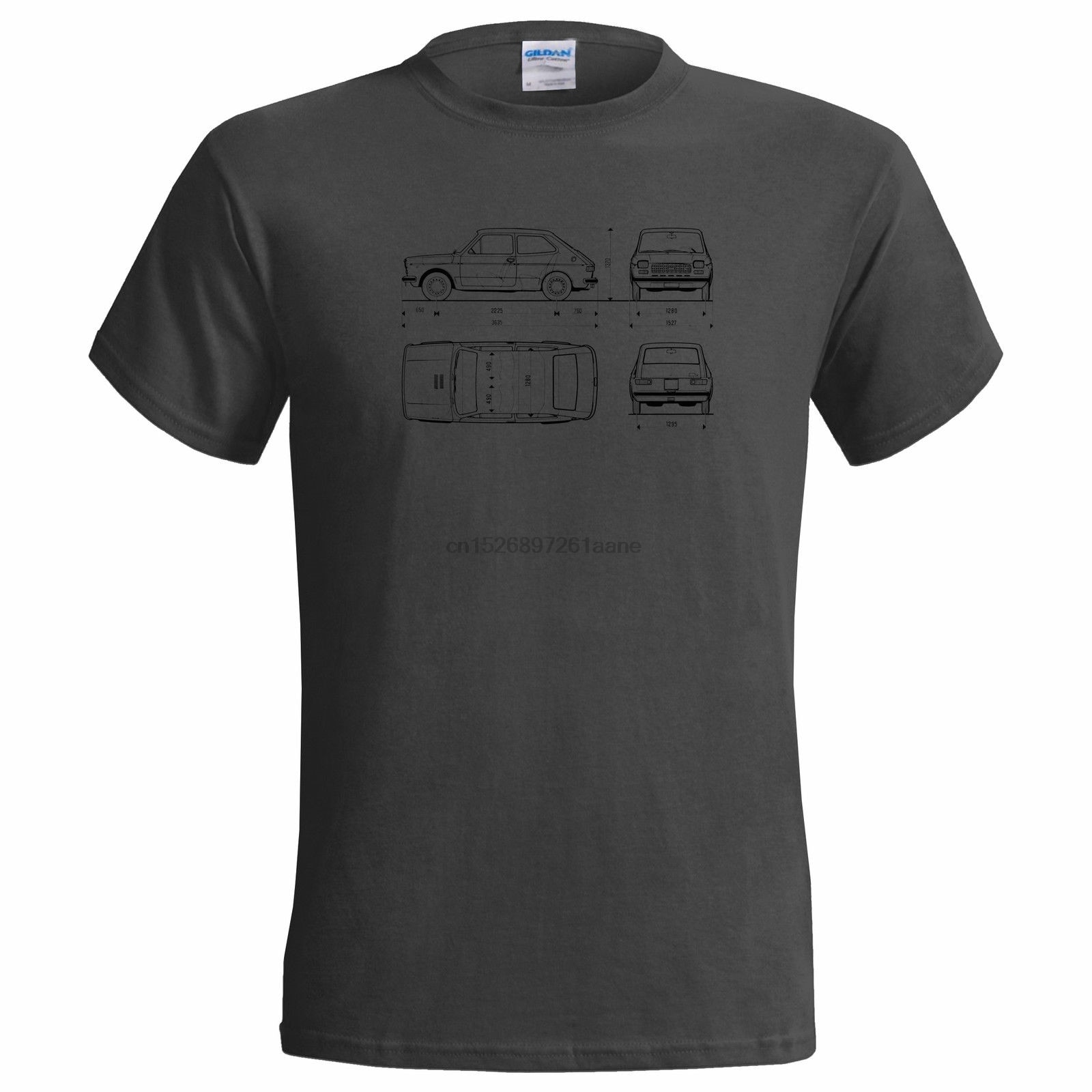 No Oficial Blueprint of FIAT 127 MENS T SHIRT clásico coche verano hombres moda TeeComfortable t shirts casual Camiseta de manga corta