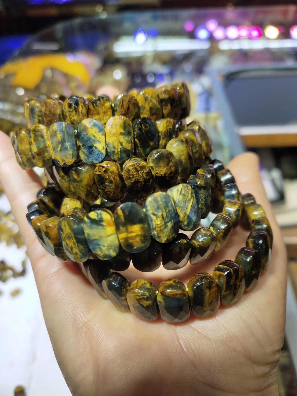 Natural pietersite pedra grânulos pulseira natural pedra preciosa pulseira diy jóias para mulher para homem atacado!
