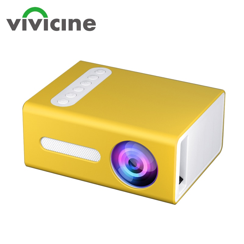 Vivicine جديد T300 LED جهاز عرض صغير 320x240 بكسل يدعم 1080P HDMI متوافق USB الصوت المحمولة الرئيسية ميديا مشغل فيديو