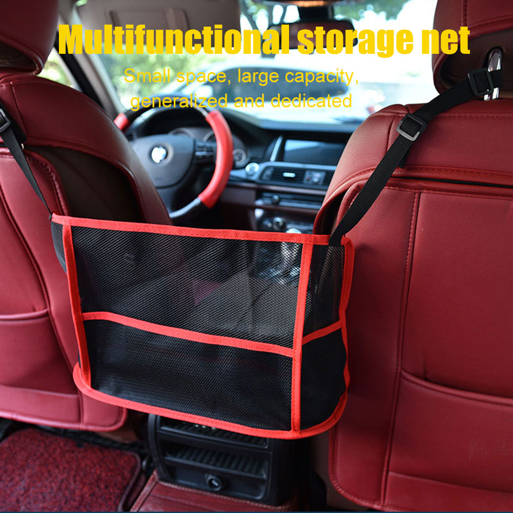 Hot Organizer Seat Back Mesh Net Bag Purse Holder Driver Storage Netting Pouch J99